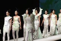 XU MING / Chinese fashion designer - this haute couture collection for the China Fashion Week 2013 is inspired by many elements of the CHINESE culture, such as colours like bronze and blue, and materials like white porcelain and Chinese jade, while at the same time shapes and subjects are a direct allusion to tradition