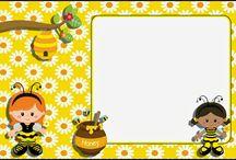 etiquetas para cadernos abelhinha