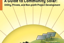 Community solar / Covers community solar initiatives and projects