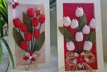 quadro de fores, tulipas