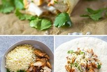 Food ideas for lunches and dinners