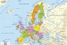 Puzzle géographique artisanal Carte Europe couleur
