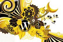 Wordpress / Diseño el cual destaca por sus colores dorados e inspirado en la estación de primavera  donde prevalecen diferentes tipos de flores en diferentes posiciones.