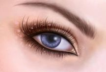 The Eyes Have It / wonderful tutorials and step by step examples of painted and drawn eyes #eyes