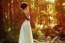 Bruids foto's / In het bos