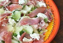 salade met meloen en seranoham