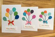 Handmade Birthday Cards / Unique handmade greeting cards, made individually from my home and sold in local shops.