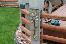 Brick & pole wall
