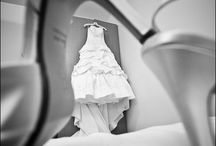 Wedding hanging dress