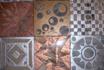 tiles metal and stone / tiles metal and stone