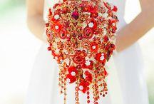 Букет невесты. Бутоньерка для жениха.