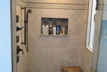 OMAH Bathroom Remodels / One Man and a Hammer before and after remodeling projects are featured.
