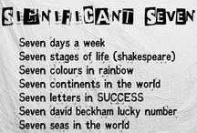 Seven / The Significance of number Seven . Everything revolve around seven even Harry Potter seven Valley sleep hours Bible and much more.