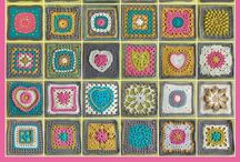needlework- CROCHET - motifs - grannie squares - flowers - edgings