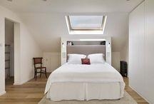 Sloped ceiling