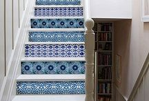 階段とタイル