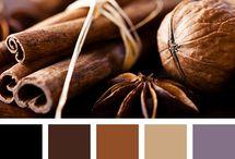 коричневая палитра