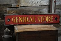General Store Collection / Custom General Store and Mercantile signs.  Made in the USA by www.theliztonsignshop.com