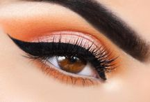 bright orange eye makeup