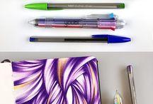 stylo bille dessin