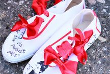 fashion / how to move white shoes to a higher level :D #shoes #fashion #art
