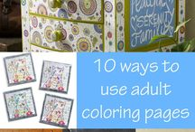 Coloring Book crafts / by Tina Stivers