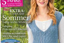 magasine the knitter / magasine de tricot , de beaux modèles