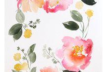 Watercolor - Blumen