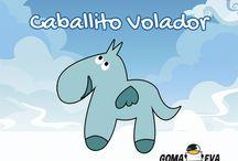 Molde Caballito Volador / http://www.goma-eva.es/molde-caballito-volador/