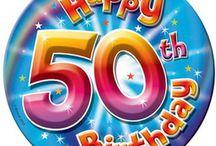 Verjaardag 50 jaar en 80 jaar