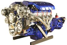 """GTO Blue LS3 Engine with Tremec T56 Transmission / Stock LS3 Engine with """"Show' quality options including: GTO Blue Paint for the Engine & Transmission, Polished Heads, Valve Covers, Timing Cover, Oil Pan, & Throttle Body. Billet Serpentine System also shown. 430HP - Are you looking for something special for your Hot Rod? Check us out at spsengines.com."""