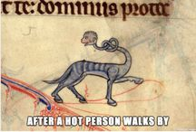 Medieval animals and people