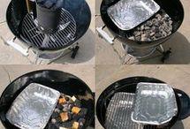 Smoke on charcoal grill