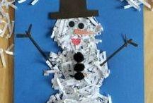 Kerst/winterknutsels / Leuke knutsels voor de winter en de kersttijd