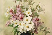yağlı boya çiçek resimleri