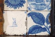 vintage delft tiles