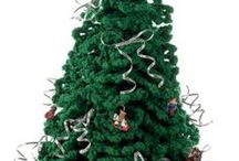 christmas crochet trees