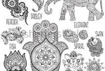 indiai minták