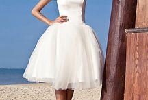 Short Wedding Dresses / by The Broke-Ass Bride (Dana)