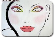 Nuestros Face Chart / Maquillajes creados por nosotras. Más información en el blog www.letsgotrends.blogspot.com