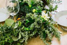Foliage garlands / Caminos de mesa hechos a base de follaje y flores. Una propuesta diferente para tus centros de mesa