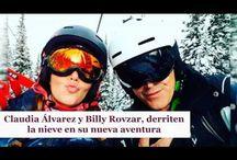 Claudia Álvarez y Billy Rovzar, derriten la nieve en su nueva aventura