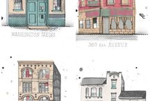 Coloring buildings, cities,etc
