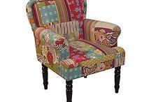 patchwork huzatos bútor