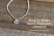 Hand Stamped Jewelry and Leather