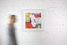 Home Decor with my Abstracts / Create a dynamic, modern look to any space in your home with vibrant, colorful abstract paintings.