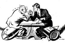 De koude Oorlog / De voortdurende spanningen tussen de Verenigde Staten en Sovjet-Unie noem je de koude oorlog. De dreigingen van en nieuwe wereld oorlog was groot want beide landen hebben veel wapens en kernwapens. Gedurende periode waren er wel conflicten maar er is geen oorlog gekomen