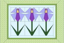 Цветочные лоскутные одеяла