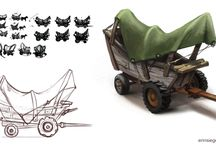 Vehicle / Wagons, carriages / 3D renders, concept art and photos of carts, wagons, carriages, coaches, etc.