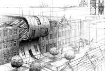 draws arcjitecture and landscape